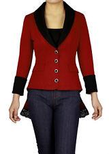 jacket gothic black steampunk coat victorian corset back women tailcoat womens