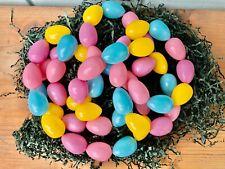 Vintage Easter Egg Garland Plastic Pastel Indoor Outdoor 52 Egg 6 ft.