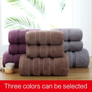 Towel bath towel set 3PC, high quality cotton soft and absorbent, 3 colors