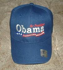 Obama For President Baseball Blue Cap Adjustamble Back