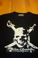 Walt Disney PIRATES OF THE CARIBBEAN skull T-Shirt SMALL PETITE