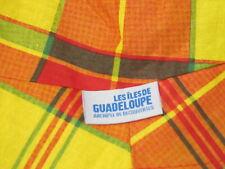 Guadeloupe Yellow Orange Checkered Pattern NEW Bucket One Size Hat Beach