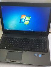 HP ZBook 15 Core i7-4800MQ 2.7GHz 8GB 256GB SSD Win 7 K2100m 1080p Gaming Laptop