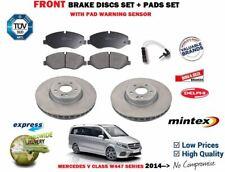 FOR MERCEDES V220 V220 V250 CDI W447 2014-> FRONT BRAKE DISC SET + PADS + SENSOR