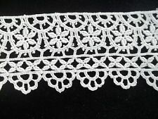Vintage Off White Lace 2 1/2 inch wide 14 inch long Needlework CL80