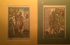 2! RUSSIAN Soviet LimitEd Lubok Colored EtchingsPRINCE IGOR & CRY OF YAROSLAVNA