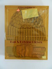Nib Vintage 1960's Hat & Driving Gloves Set One Size 100% Acrylic