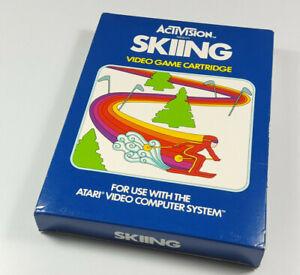 SKIING ~ 1981 VCS ATARI 2600 NTSC Spiel Boxed NOS New NTSC USA Collectible NEU