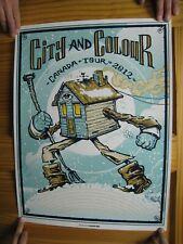 City And Colour Poster & Silk Screen Canada Tour 2012 Dallas Green Alexisonfire