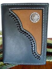 Nocona Western Mens Wallet Bifold Cowboy Prayer Black Brown 54514129