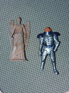 Dr Who Weeping Angel and Sontaran figures