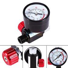 1/4'' BSP Spritzpistole Mini Druckluft Regler mit Manometer Druckregulierung Hot