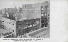 View of Washington Fire Nov 9, 1906 Scranton PA handsome vintage postcard unused