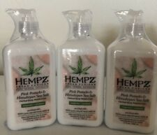 Pack of 3 - 17oz NEW HEMPZ Body Moisturizer - Pink Pomelo & Himalayan Sea Salt