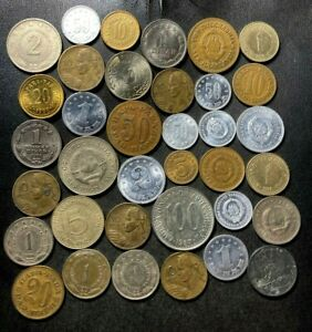 Old Yugoslavia Coin Lot - 1942-Present - 36 Excellent Coins - Lot #L23