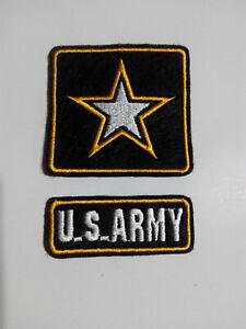 2 Parches bordados para coser estilo Militar 6/6,5 cm y 6,5/2,5 cm adorno ropa