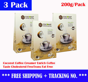 3x Coconut Coffee Creamer Enrich Coffee Taste Cholesterol FreeTrans Fat Free