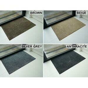 Non Slip Door Entrance Gelback Mats in Anthracite, Silver Grey, Beige and Brown