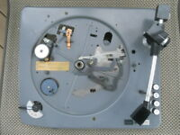 Vintage 1960's Elac Miracord 40 Turntable Chassis  & Tonearm, For Parts Only