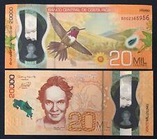 Costa Rica 20 000 Colones 2020 Polymer, P New! UNC