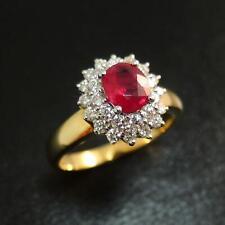 New 18 Carat Gold Ruby & Diamond Ring 0.66 Carat Ruby
