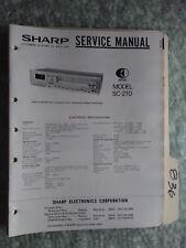 Sharp SC-210U service manual original repair book stereo receiver tuner tape