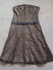 French Connection strapless dress and jacket gold/black size 12