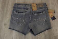 NEW $59 SILVER Aiko Jean Mid Rise Shorts Womens 27 W x 3 L NWT Jeans Distressed
