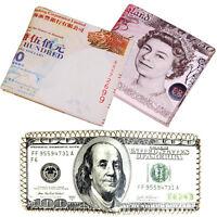 Men Vintage Genuine Leather Dollar Bifold Wallet Money Card Holder Clutch Purse