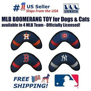 Pets First MLB Licensed Dog Boomerang Toy - Heavy Duty, Tough and Squeaky Toy