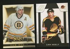 2 Cam Neely Cards 2010-11 Zenith #118 & 2013-14 Select #165 - Boston Bruins