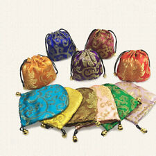Wholesale 10PCS Chinese Classic Handmade Silk Brocade Gift Jewelry Bags Pouch 4""