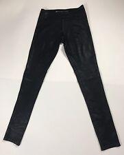 NWT Women's Blanc Noir Leggings Pants Embossed Reptile Print Black Size S