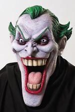 Halloween DC COMICS BATMAN'S ENEMY JOKER LATEX DELUXE MASK Haunted House NEW