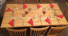 NEW Solid Pine Large Cross Legged Kitchen Dining Table   8+ Seater