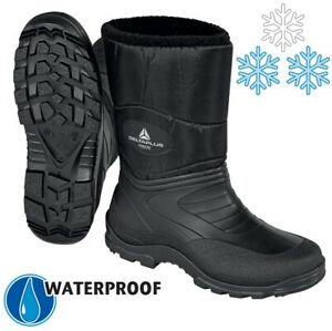 MENS WELLINGTONS SNOW BOOTS WINTER LADIES WATERPROOF MUCKER THERMAL FUR BOOTS