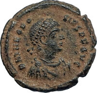 THEODOSIUS I the GREAT 379AD Authentic Ancient Original Roman Coin VOT i67231