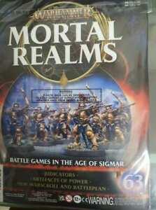 "Warhammer AoS Mortal Realms ""Stormcast Eternals Judicators"" Sealed (Issue 63)"