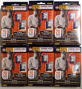 2021 Panini Diamod Kings Hanger Box Lot of 6-Sealed-20 Cards Per Box-1 Red Frame