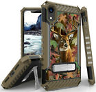 Whitetail Deer Outdoor Camo Rugged Case Cover Stand + Strap for iPhone XR (10R)