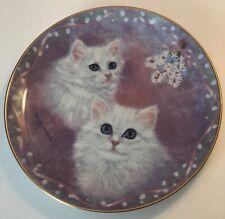 Tasha and Tanya Danbury Mint Plate Purrfect Pairs Collection 1991