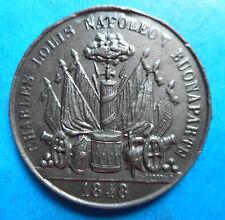 Médaille Politique - 1848 - Elections Président Napoléon Bonaparte - N°4