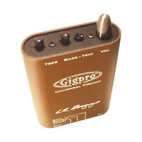 LR Baggs Gig Pro Lightweight Beltclip  3 Band EQ Acoustic Guitar Preamp GigPro