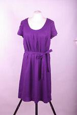 L354/15 Monsoon Viscose Slightly Shimmering Purple Dress, size UK14, Euro 42