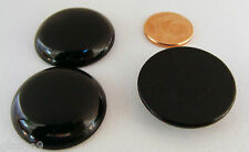 1 CABOCHON Verre Rond 30mm BLEU Noir Doré irisé  DIY création bijoux déco