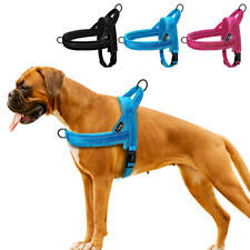 Reflective Dog No Pull Strap Harness Soft Pet Front Leading Vest Small Large Dog