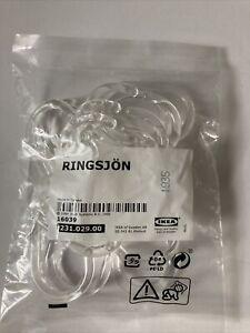 Ikea RINGSJON Shower curtain rings clear  12 pack 231.029.00