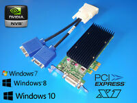 HP Compaq Elite 6000 6300 8000 8200 8300 PCIe x1 Dual VGA Video Card