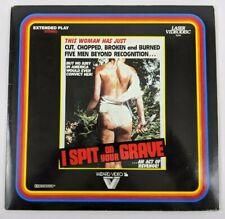 I SPIT ON YOUR GRAVE Laserdisc 80's Horror Exploitation RARE! Wizard Video