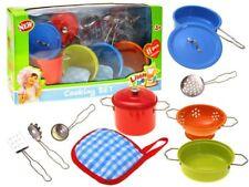Küche Geschirr Kochzubehör  Kinderküche Kochtopf Töpfe 11 tlg. Geschenk NEU